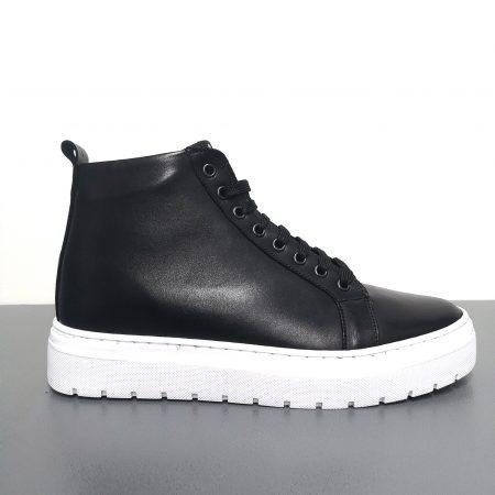 sneakers alta in pelle